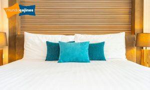 Cojines sobre cama de matrimonio